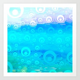 Blue Sky Bubble Pattern Art Print