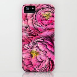 Peonies three pink iPhone Case