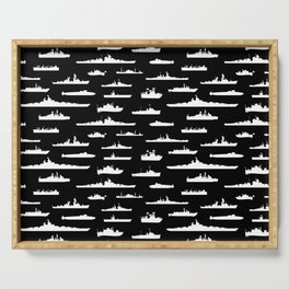 Battleship // Black Serving Tray