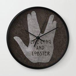 Live Long & Lobster Wall Clock