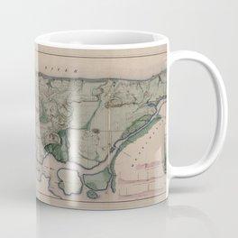 Vintage Map Print - New York City, 1865 Coffee Mug