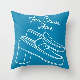 Tom Cruise Shoes Throw Pillow