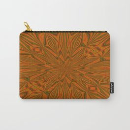 Autumnal Leaves Red Green and Amber Abstract Kaleidoscope Carry-All Pouch