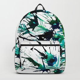 Peacock profile ink splatter Backpack