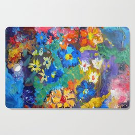 Flora Azul Cutting Board