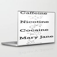 cocaine Laptop & iPad Skins featuring Caffeine, Nicotine, Cocaine, Mary Jane by MMHDesigns