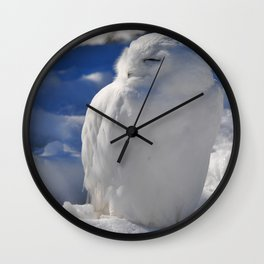 Snowy in the Snow by Teresa Thompson Wall Clock