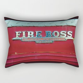 Fire Boss - Fort Worth - Fire Engine Red and Chrome Rectangular Pillow