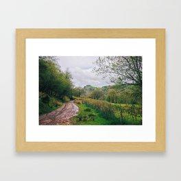 Castle Ruins Amongst Brecon Countryside Framed Art Print