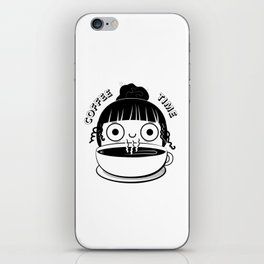 Coffee Girl iPhone Skin