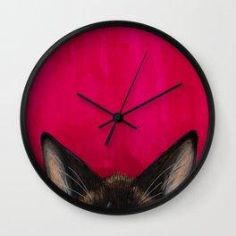 Snowshoe Cat Ears Wall Clock