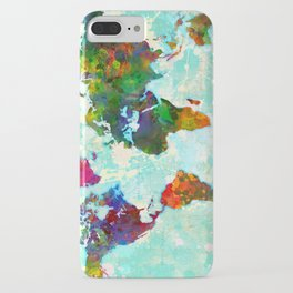 Abstract Map of the World iPhone Case