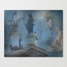 Rome Statues Canvas Print