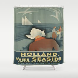 Vintage poster - Holland Shower Curtain