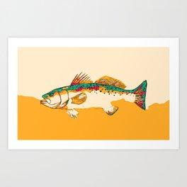 Speckled Trout Pop Art Art Print