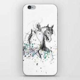 Horse (Rainy canter) iPhone Skin