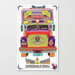 Indian Truck Art Canvas Print