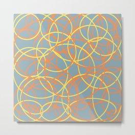 Abstract circle art Metal Print