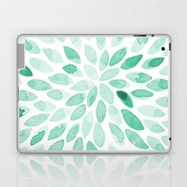 Watercolor brush strokes - aqua Laptop & iPad Skin