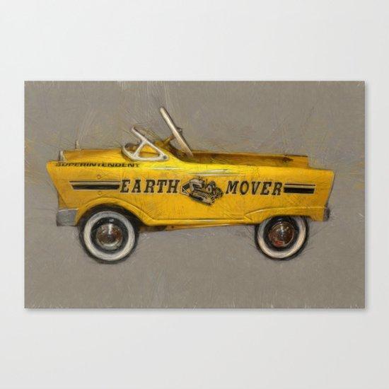 Earth Mover Pedal Car Canvas Print