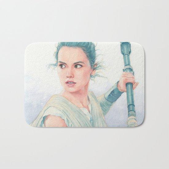 Rey watercolor Bath Mat