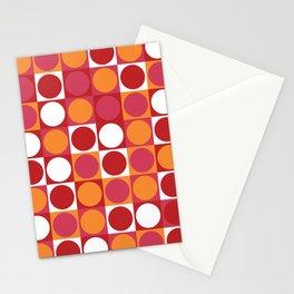 Retro Circle Stationery Cards