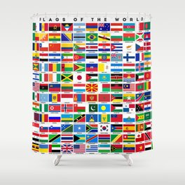 Flags Of The World Shower Curtain