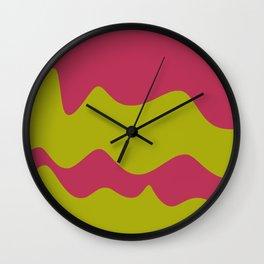 Ribbons: Fuchsia & Lime Wall Clock