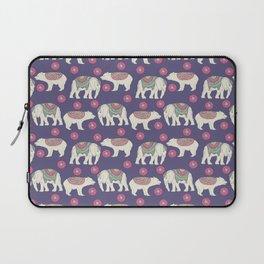 Vintage ethnic Indian elephant wild bear Laptop Sleeve