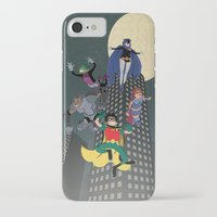 teen titans iPhone & iPod Cases featuring Teen Titans by Fuacka