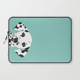 Dalmatian cute puppy dog black and white mint pastel gender neutral pet owner gifts love animals Laptop Sleeve