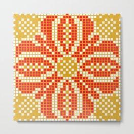 Red & Gold Flower Metal Print