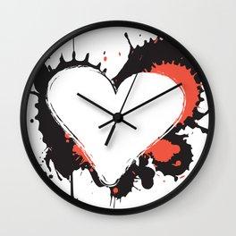 I Heart Live Art Wall Clock
