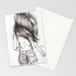Girl Drawing Stationery Cards