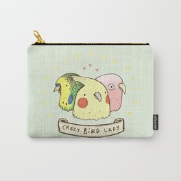 Crazy Bird Lady Carry-All Pouch
