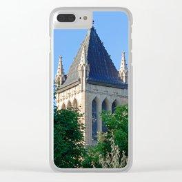Iowa State University Campanile Close Up Clear iPhone Case