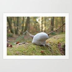 Smurf hat mushroom Art Print