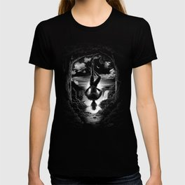 XII. The Hangman Tarot Card Illustration T-shirt