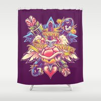 minions Shower Curtains featuring BOWSER NEVER LOVED ME by BeastWreck