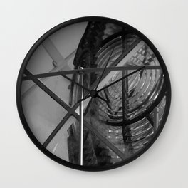 Lighthouse B&W Wall Clock