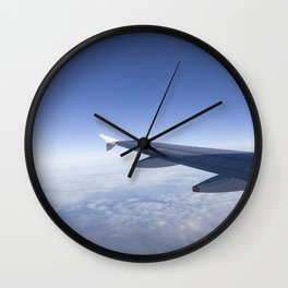 Heavenly Blue Skies Flying Wall Clock