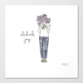 Inhale joy Canvas Print