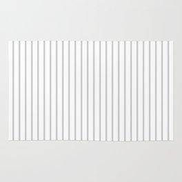 Dove Grey Pin Stripes on White Rug