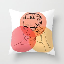 Knowing Throw Pillow