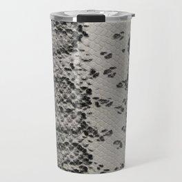 Snake Skin in Grey and Black Travel Mug