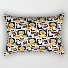 Beware of the Cat -Pattern Rectangular Pillow