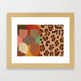 cheeta and people Framed Art Print