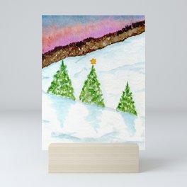 Three Christmas Trees Mini Art Print
