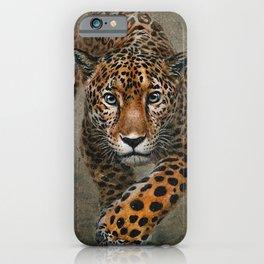 Leopard background iPhone Case