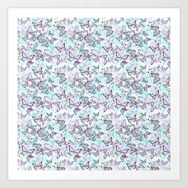 Tiny Butterflies Art Print